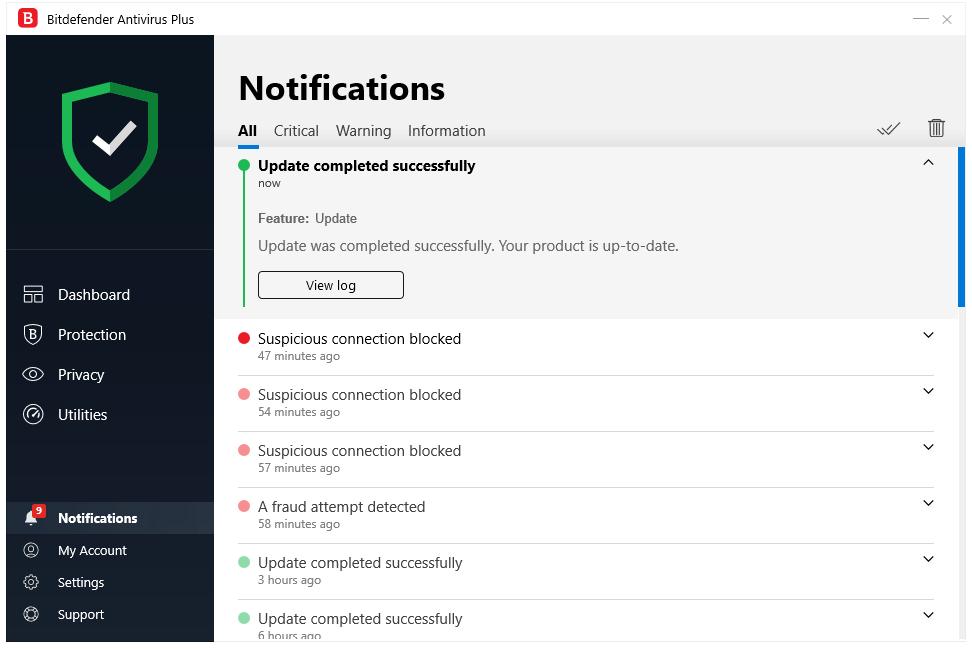 Bitdefender Notification